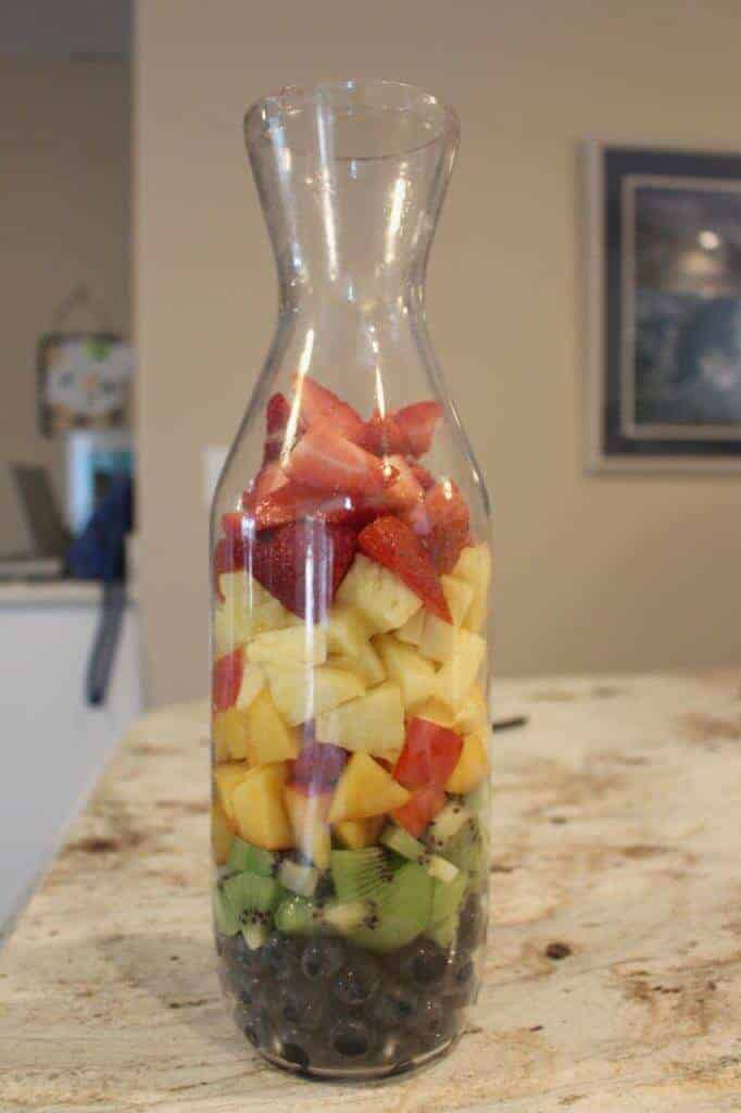 carafe of fruit