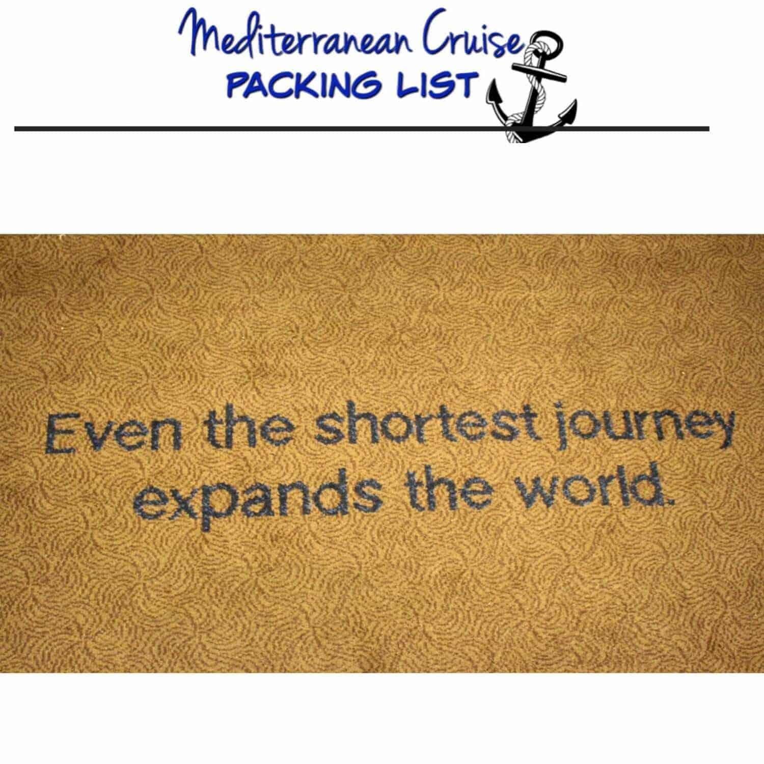 Mediterranean Cruise Packing List & 10 Things I Couldn't Live Without!