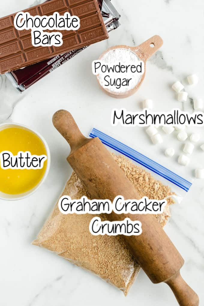 s'mores bars Ingredients