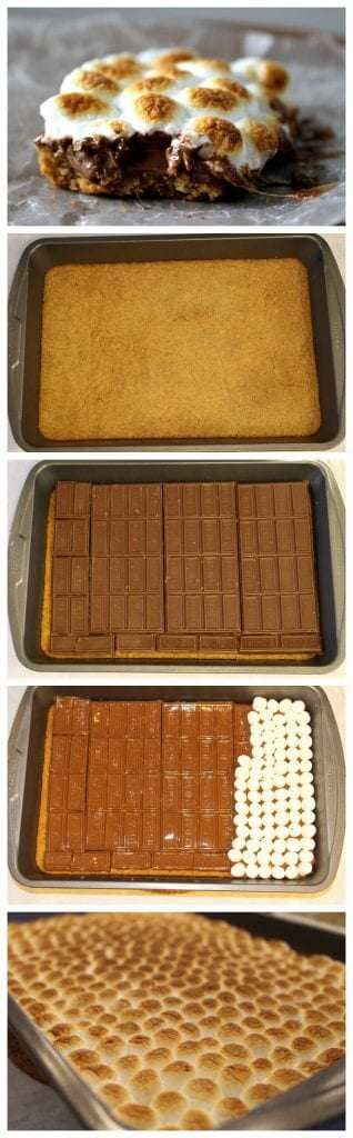 How to make Copycat Starbuck S'mores Bars - Indoor s'mores you can make in your oven and enjoy all year long