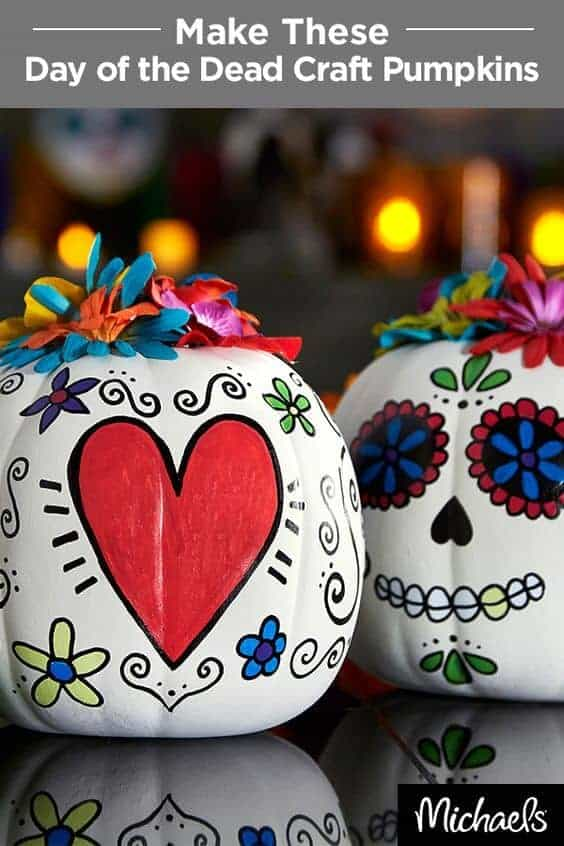 Day of the Dead Pumpkins by Michaels