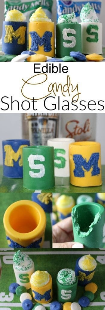 Edible Candy Shot Glasses - Show your team spirit with these easy to make candy shot classes