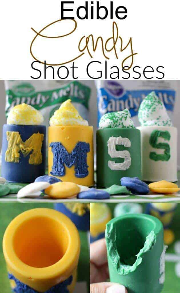 Edible Candy Shot Glasses - the perfect treat for the big game!