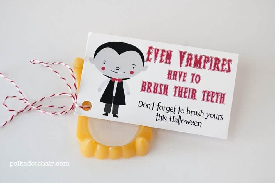 Even Vampires Bursh THeir Teeth Free Printable by Polka Dot Chair
