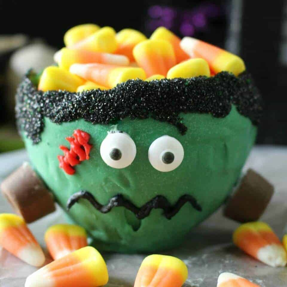 Frankenstein candy bowl - you can eat the entire bowl!