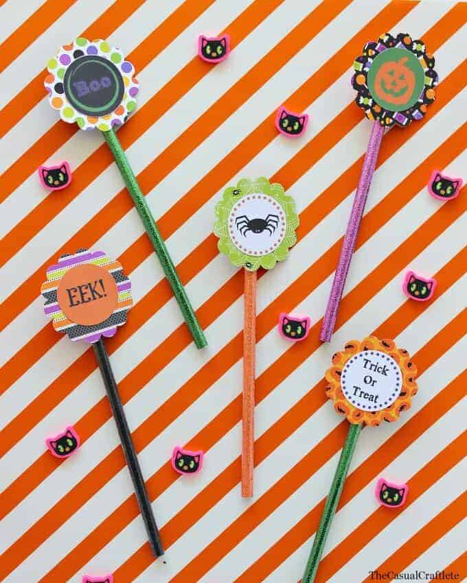 Free Printable Halloween Pencil Toppers by The Casual Craftlete