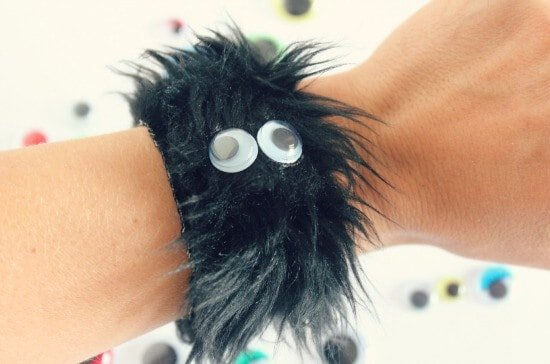 Furry Monster Bracelets by Makes and Takes
