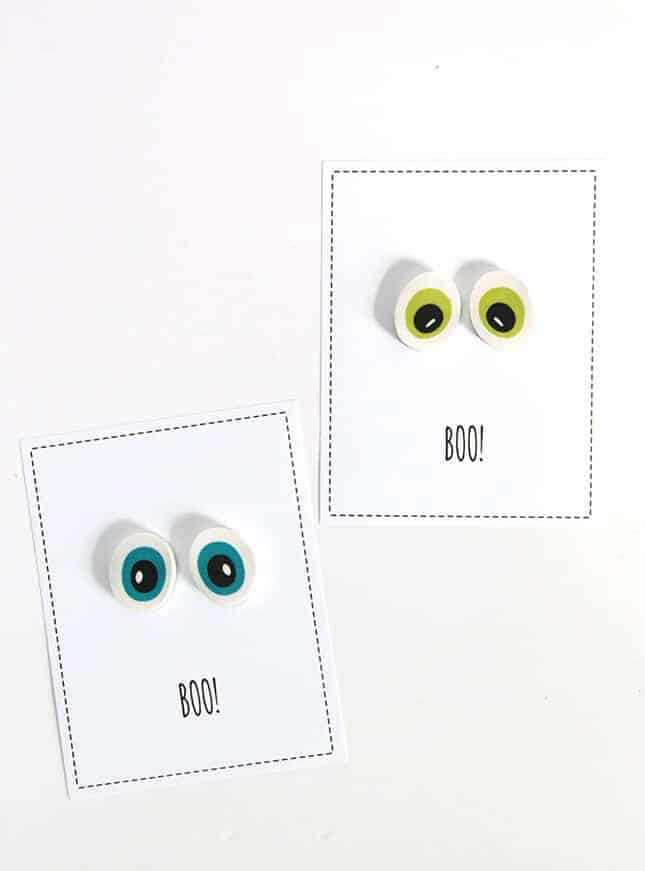 Google Eye Eraser Free Printable Halloween Treats by Smashed Peas and Carrots