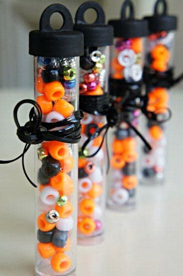 Halloween Bead Bracelet Kids via Babble