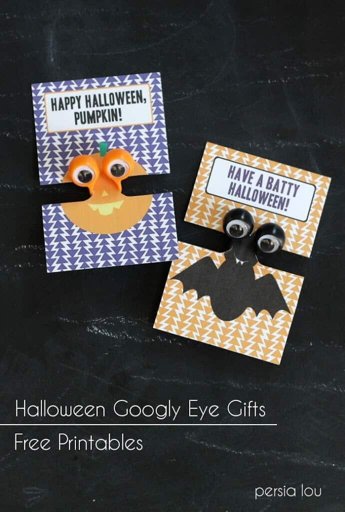 Halloween Google Eye Monster Free Printable Gifts by Persia Lou