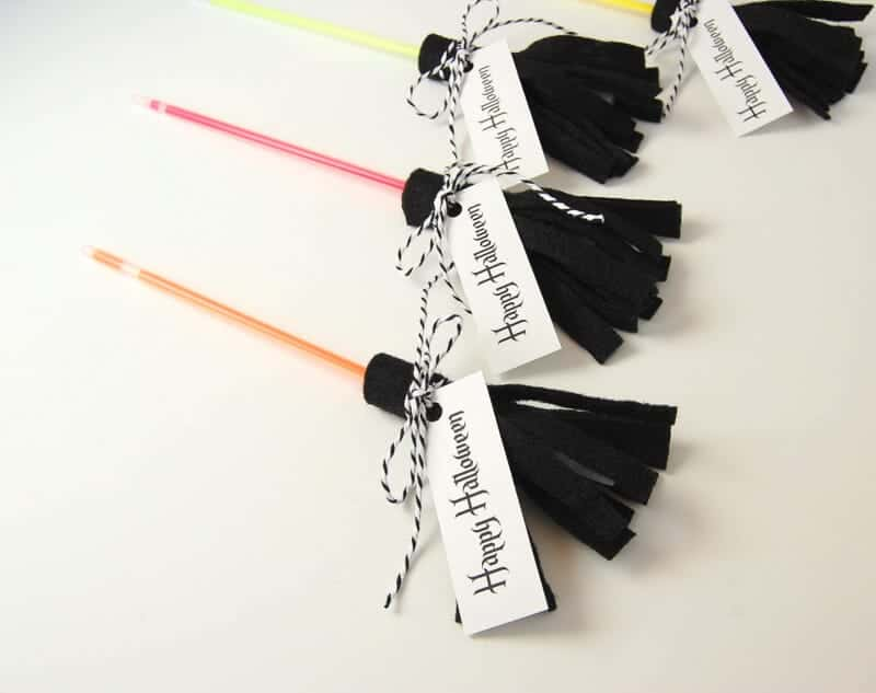 Happy Halloween Glow Stick Witches Brooms by Northstory