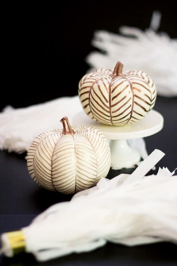 Herringbone Pumpkins by Lovely Indeed