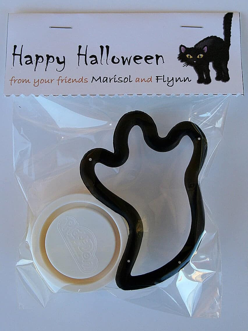 Play Doh and Ghost Cookie Cutter with Free Printable Bag Topper by Tonya Staab