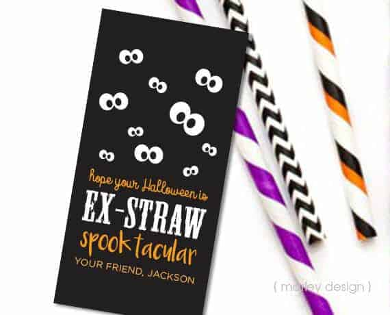 Printable Halloween Straw Treats by Marley Designs on ETSY