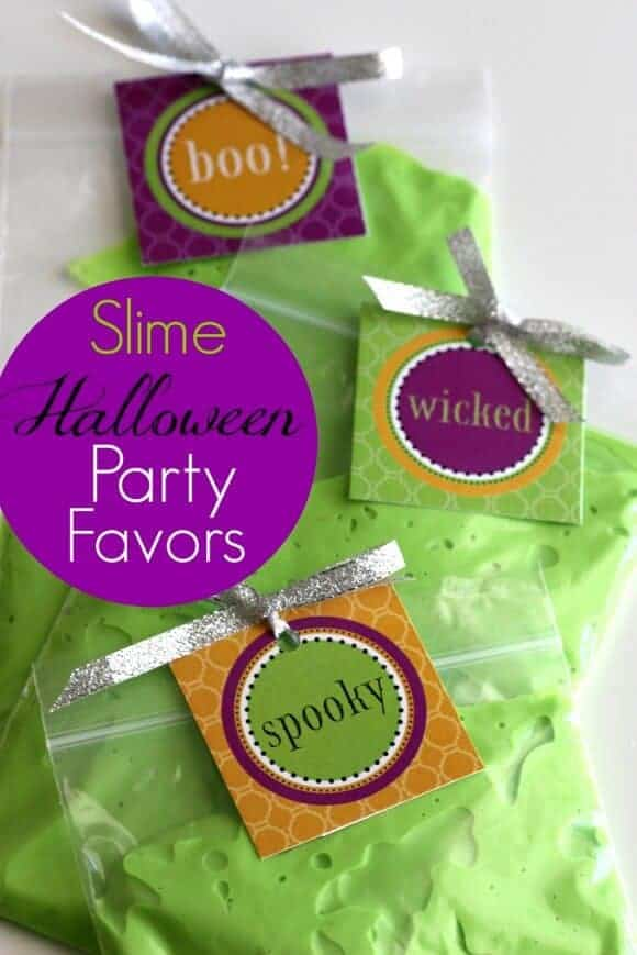 Free Printable Halloween Slime by Catch My Party