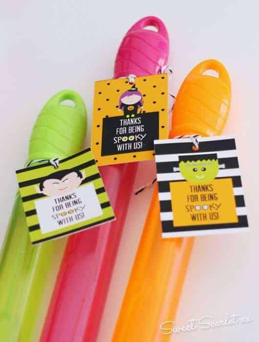 Spooky Party Favor Printables by Sweet Scarlet Designs