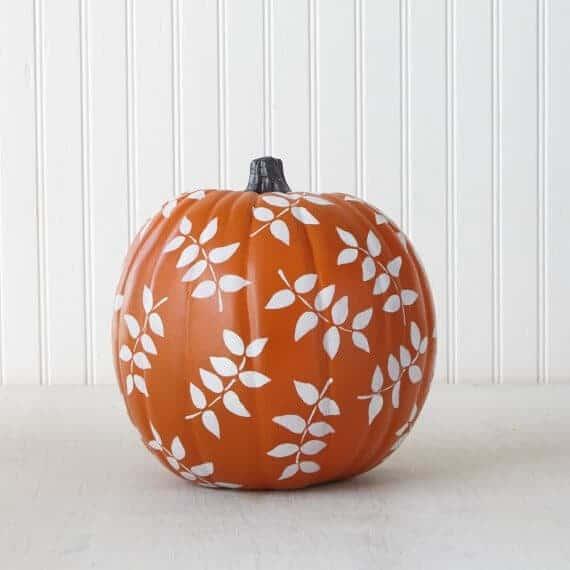 Stencil Pumpkins via Martha Stewart