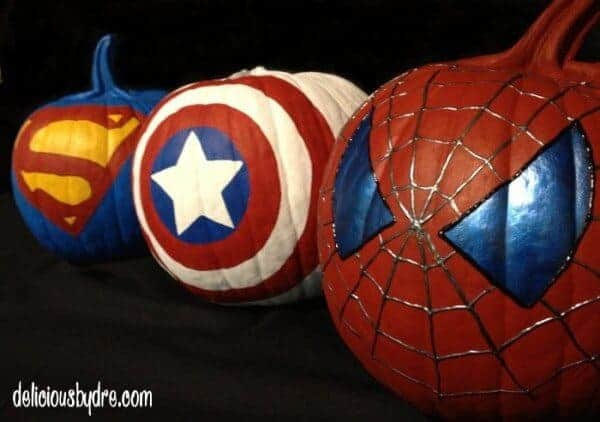 Superhero Pumpkins by Delicious by Dre