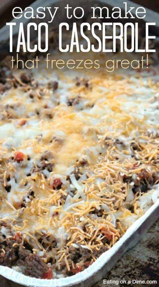 Taco Casserole that freezes easily and tastes great by Eating on a Dime