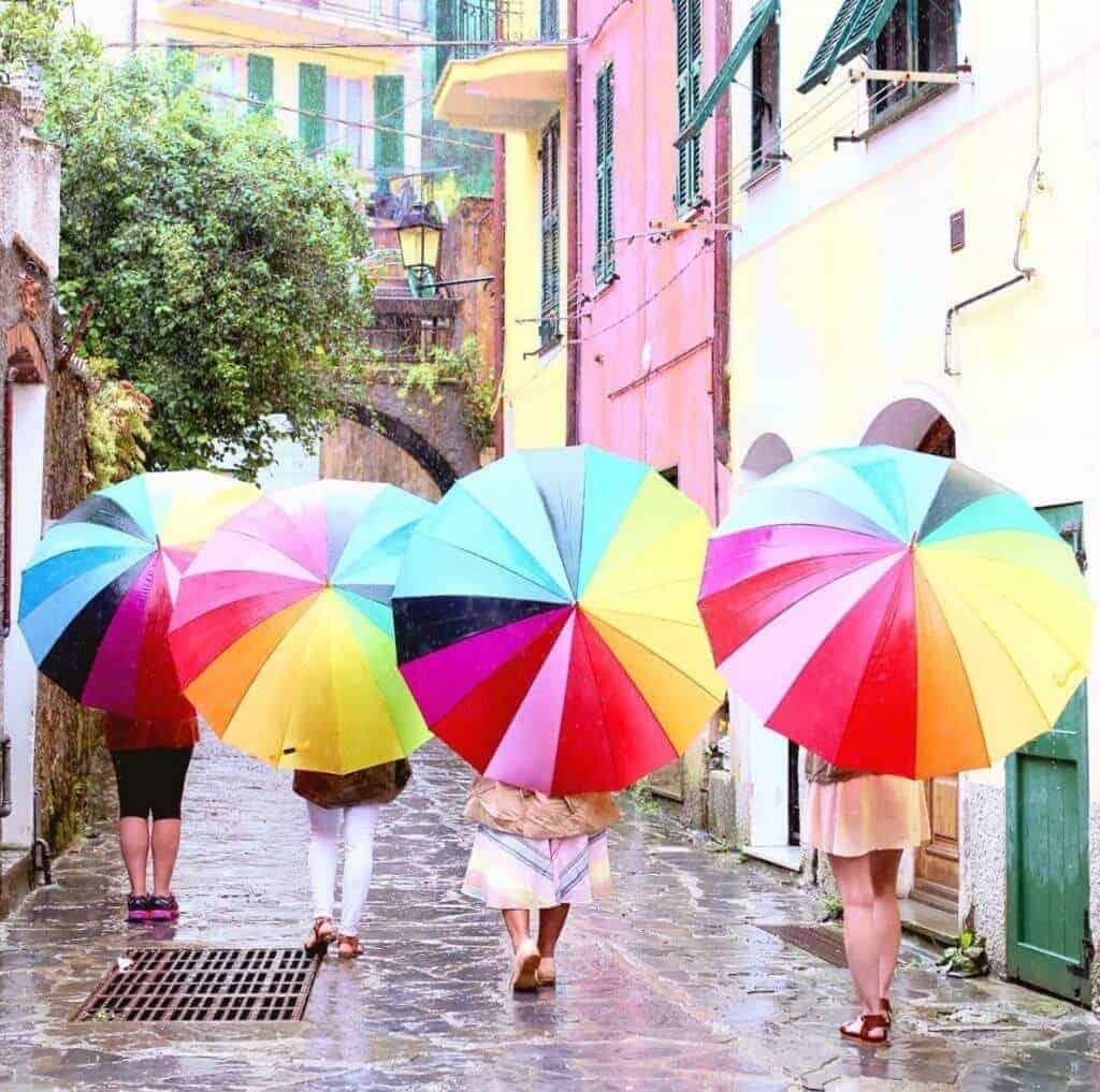 Umbrellas in Italy - Cinque Terre