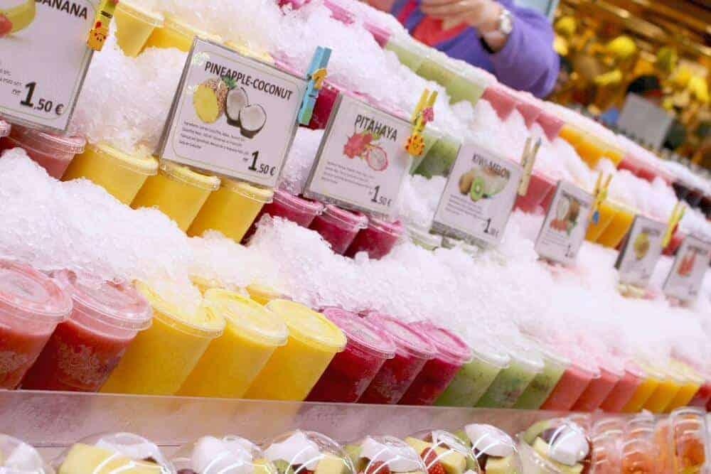 fruit juice from Barcelona at El Mercat de la Boqueria