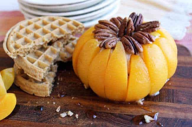 Peachy maple pecan pumpkin