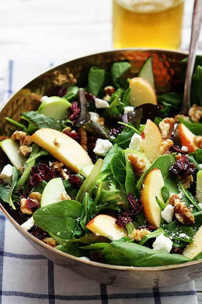 Apple Cranberry Walnut Salad by Le Creme de la Crumb