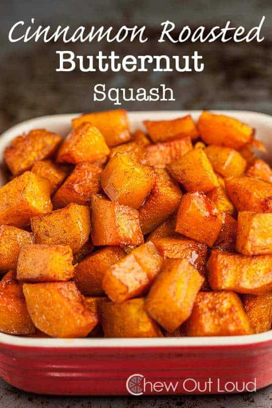 Cinnamon Roasted Butternut Squash by Chew Out Loud