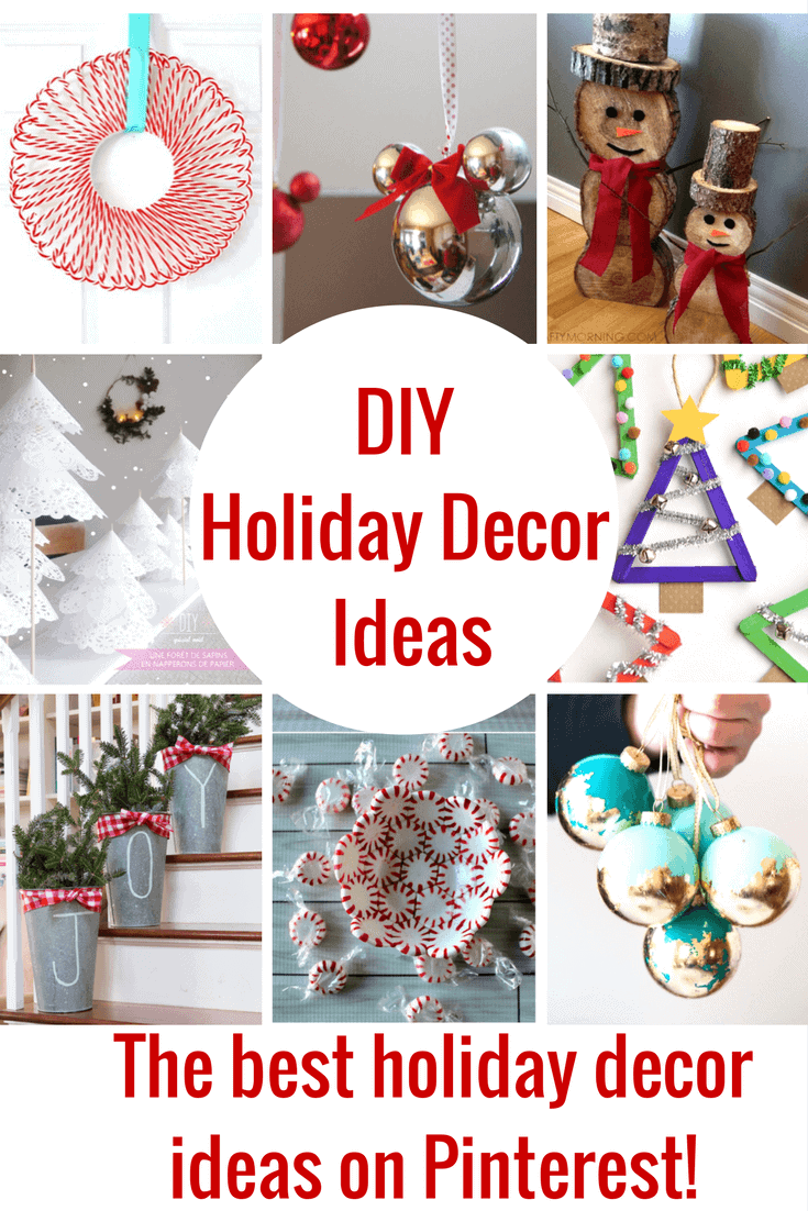 The best DIY Holiday Decor Ideas! Not only are these Holiday decorations super cute, they are all easy enough to do and you don't have to be Martha Stewart to pull them off!
