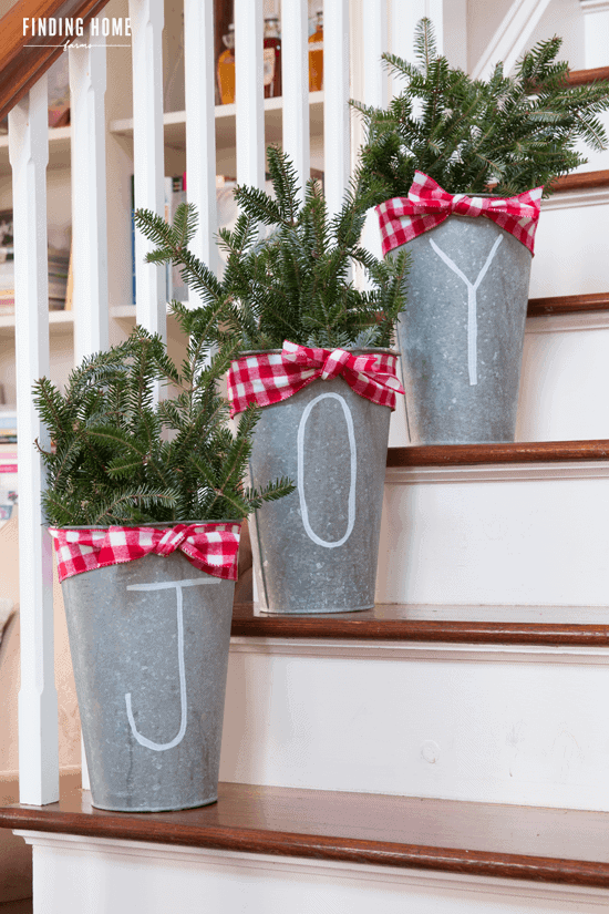 Galvanized Tree Buckets by Finding Home Farms