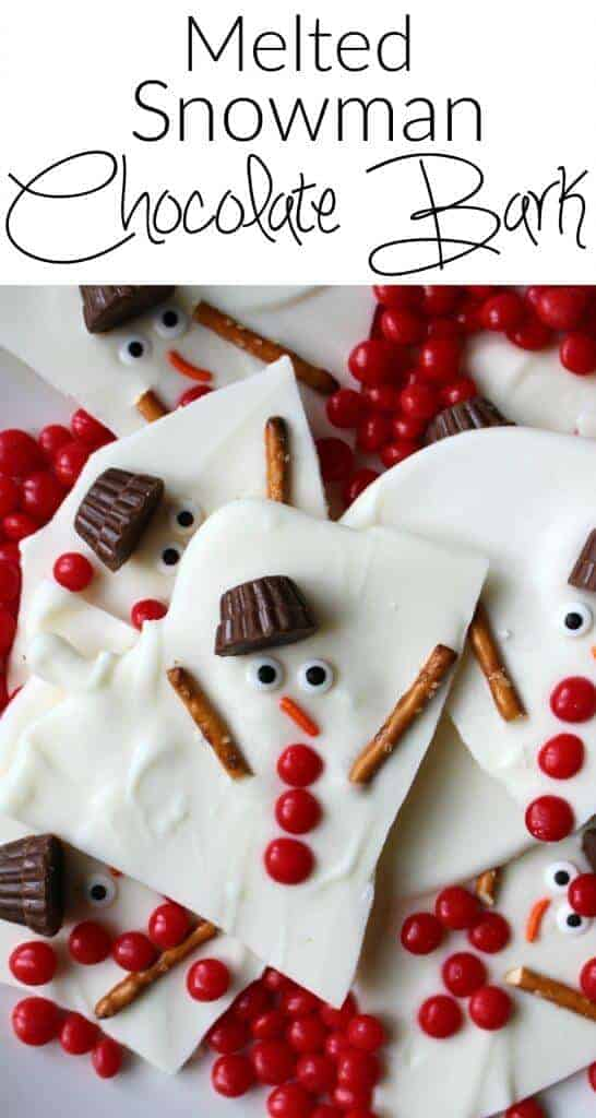Melted Snowman Chocolate Bark Princess Pinky Girl
