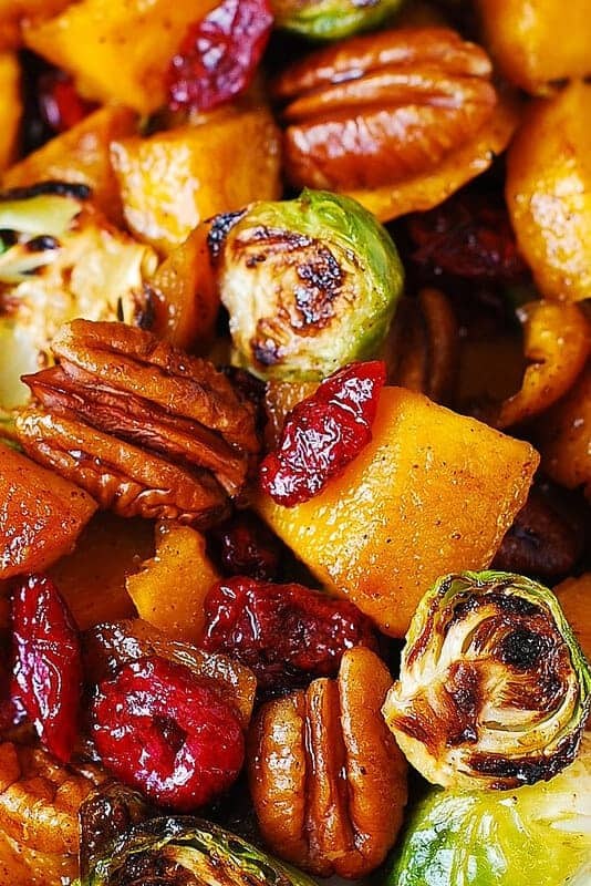 Roasted Brussel Sprouts, Cinnamon Butternut Squash Cinnamon and Cranberries by Julias Album