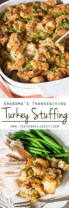 Grandmas Thanksgiving Turkey Stuffing by Tastes of Lizzie T