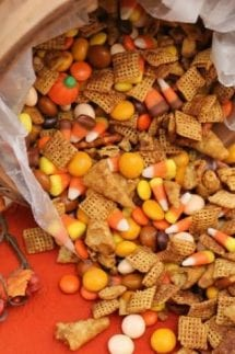 pumpkin spice snack mix featured