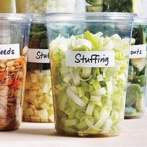 Chopped Ingredients a few days ahead for Thanksgiving by Martha Stewart