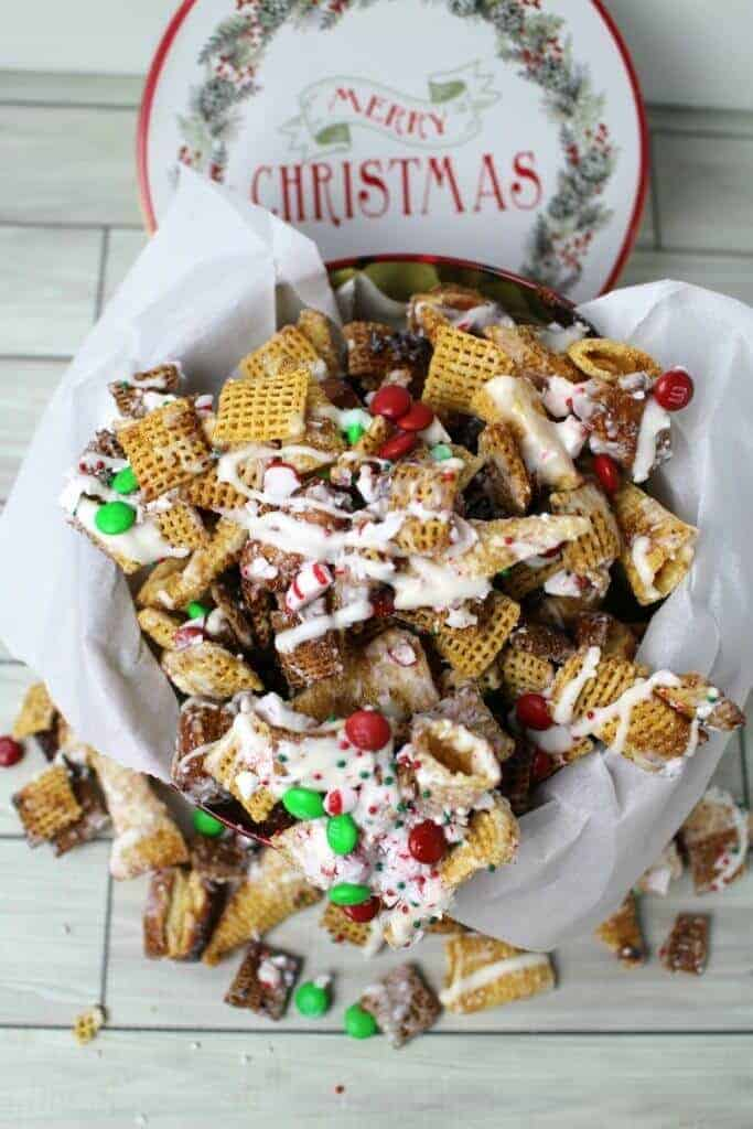 christmas crack chex mix recipe sweet and salty with a touch of peppermint - Christmas Crack Recipe Chex