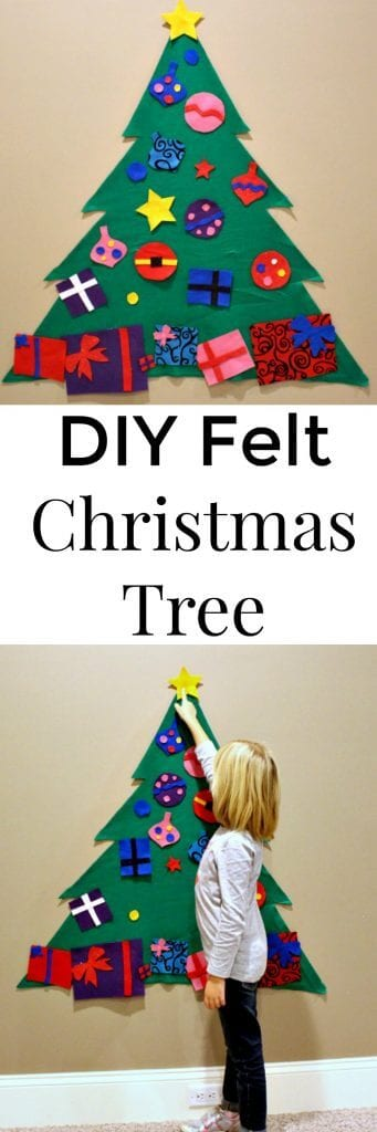 Felt Christmas Tree - an easy Christmas craft for kids
