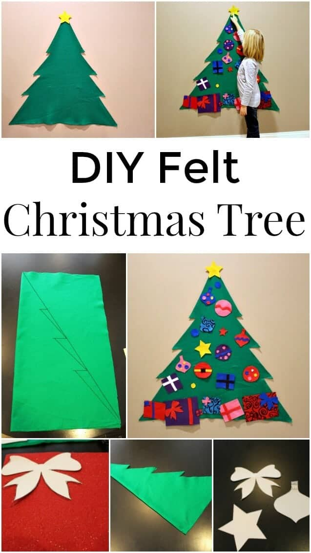 DIY felt Christmas tree an easy Christmas craft