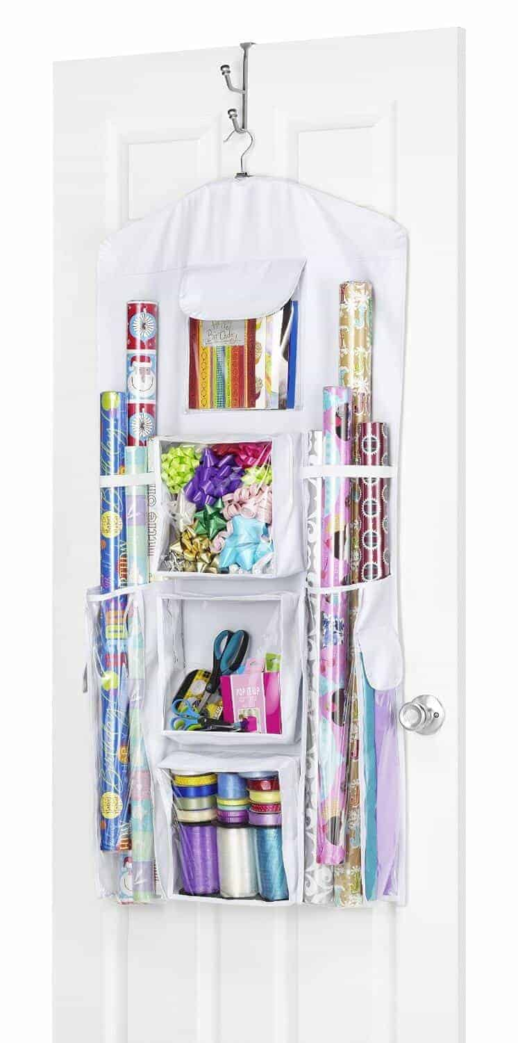 Gift Wrapping Hanging Organization from the Organization Shoppe