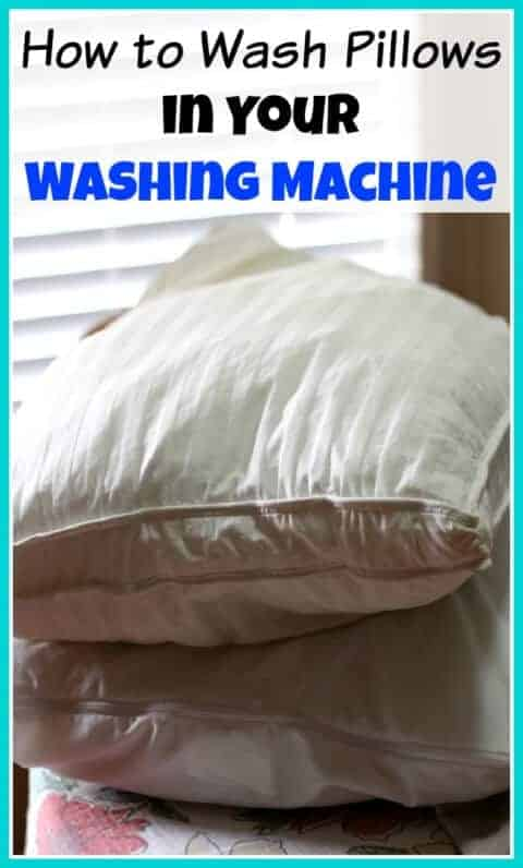 How to Wash Pillows in the Washing Machine by A Cultivated Nest