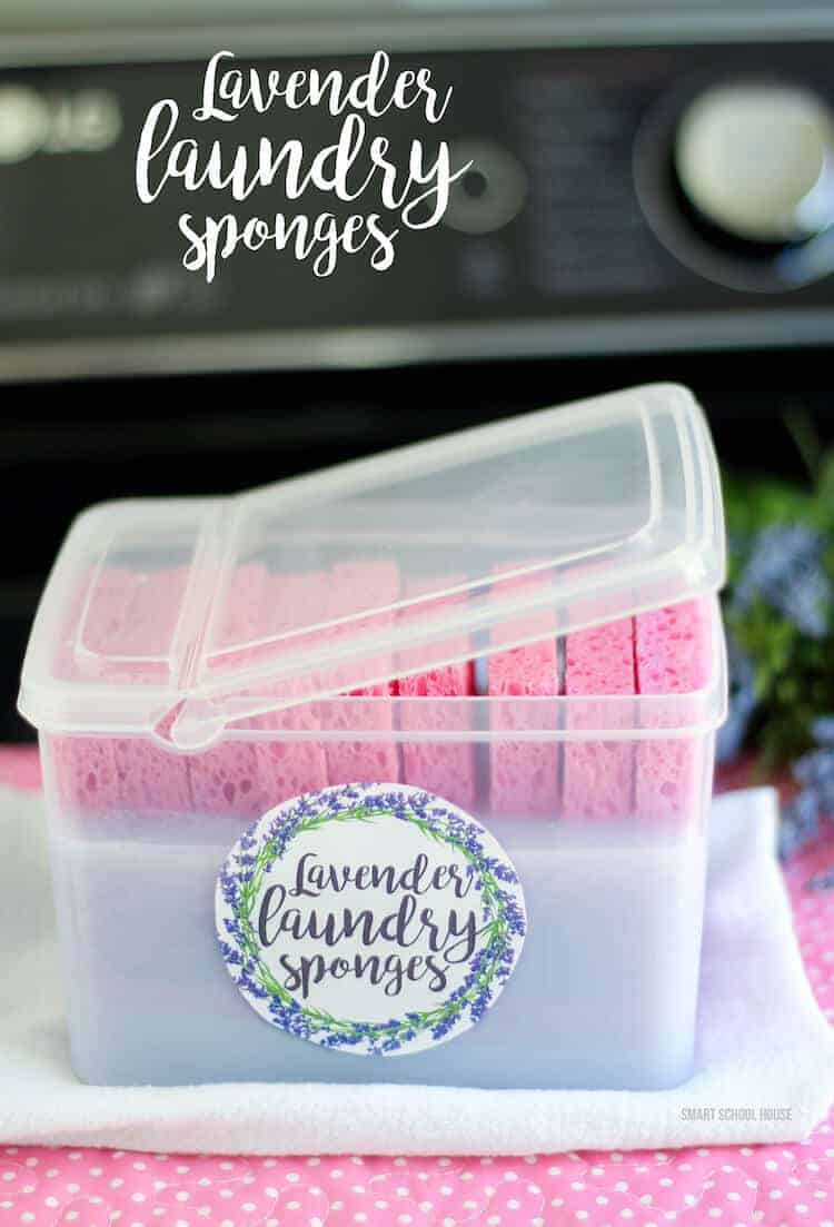 Lavender Laundry Sponges by Smart Schoolhouse