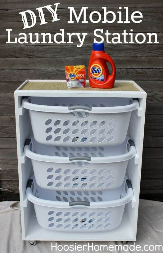 Mobile Laundry Station by Hoosier Homemade