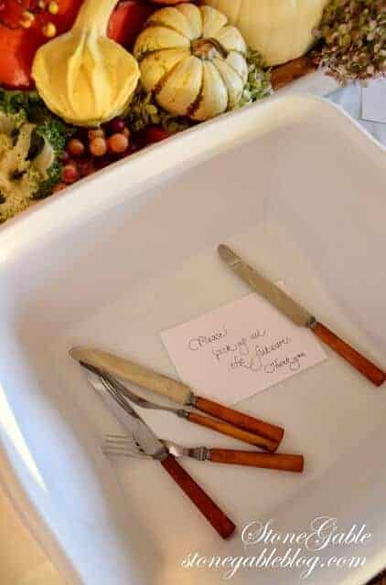 Thanksgiving Clean Up ideas from Stonegable