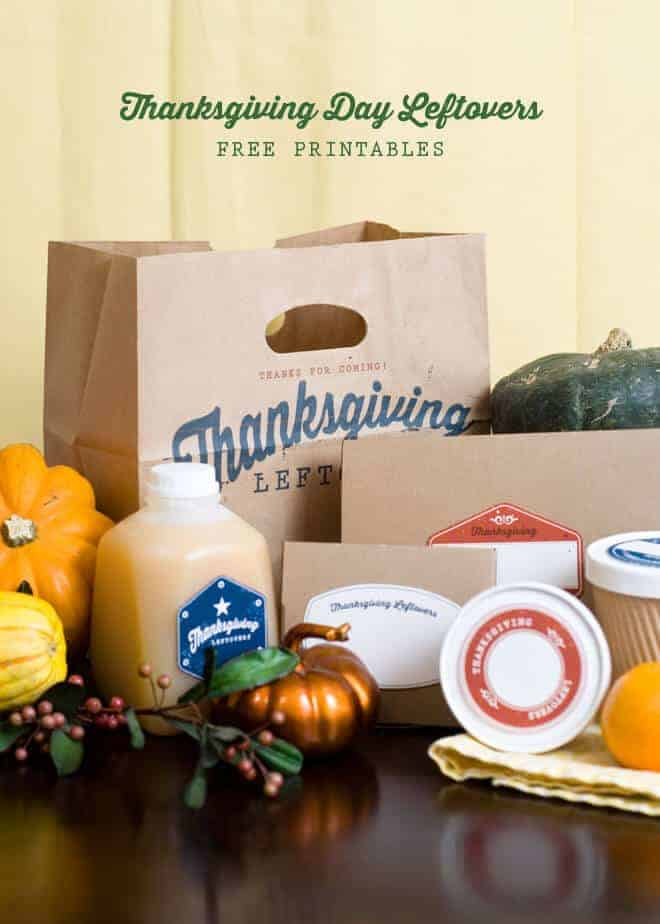 Thanksgiving Leftover Printables by Pizzazzerie
