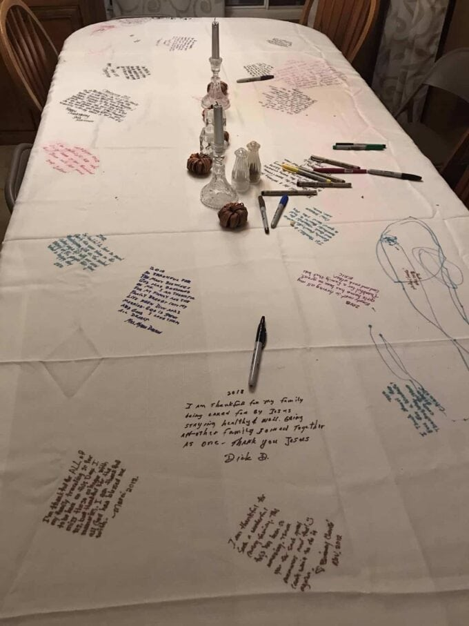 Thanksgiving Table Cloth
