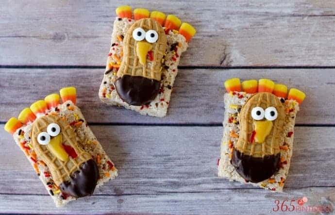 Thanksgiving Turkey Rice Krispie Treats