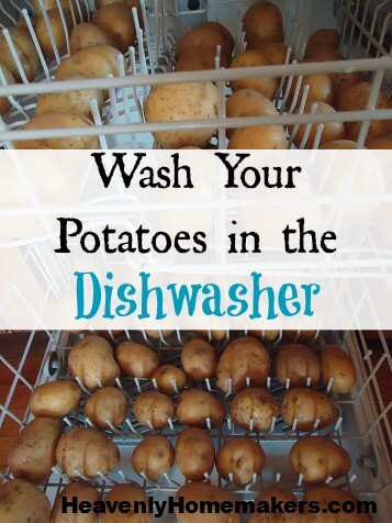 Wash Potatoes in the Dishwasher by Heavenly Homemakers