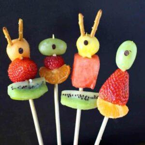 Halloween Fruit Kabobs – Cyclops Kabobs