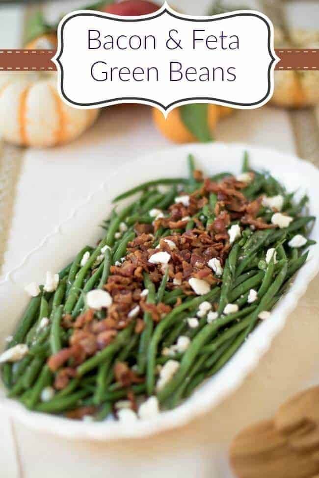Bacon and Feta Green Beans - the perfect side dish!