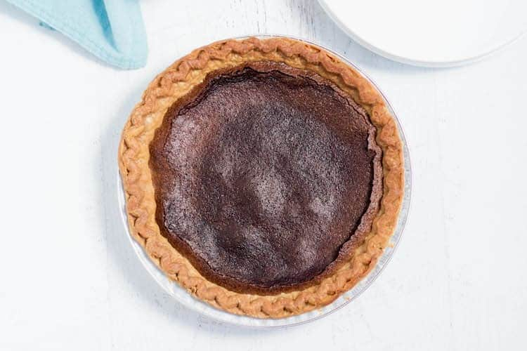 Chocolate Chess Pie baked